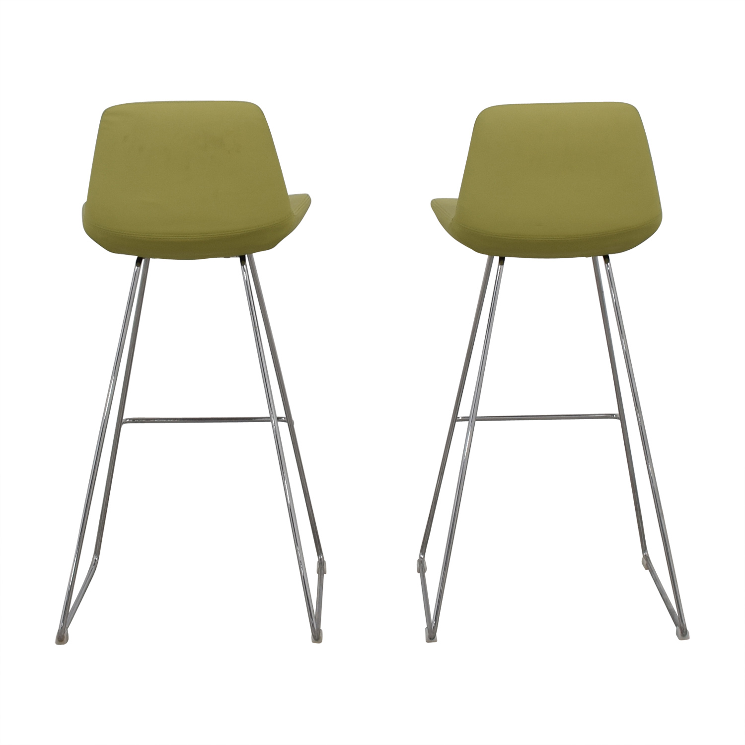 Design Within Reach Design Within Reach Lime Leather Bar Stools dimensions