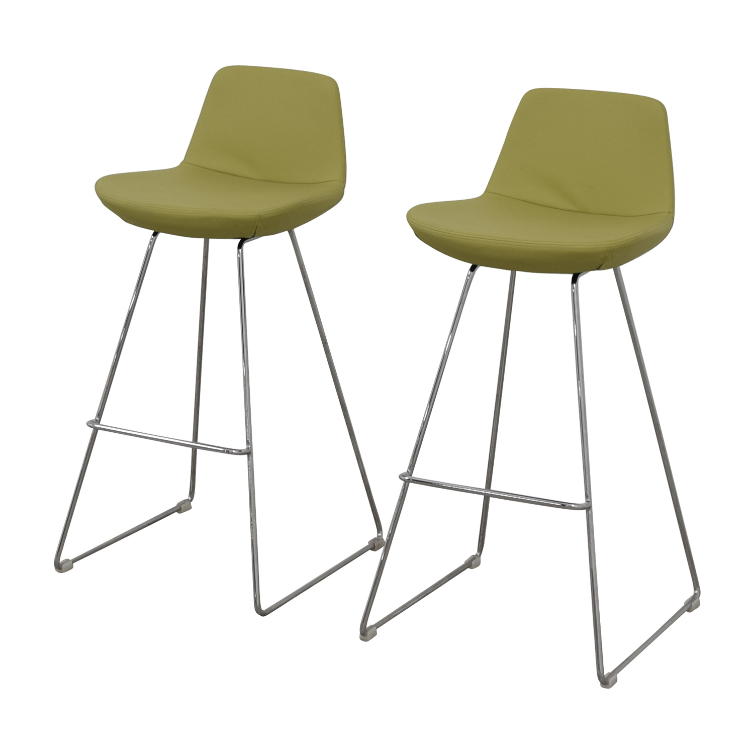 Design Within Reach Design Within Reach Lime Leather Bar Stools price