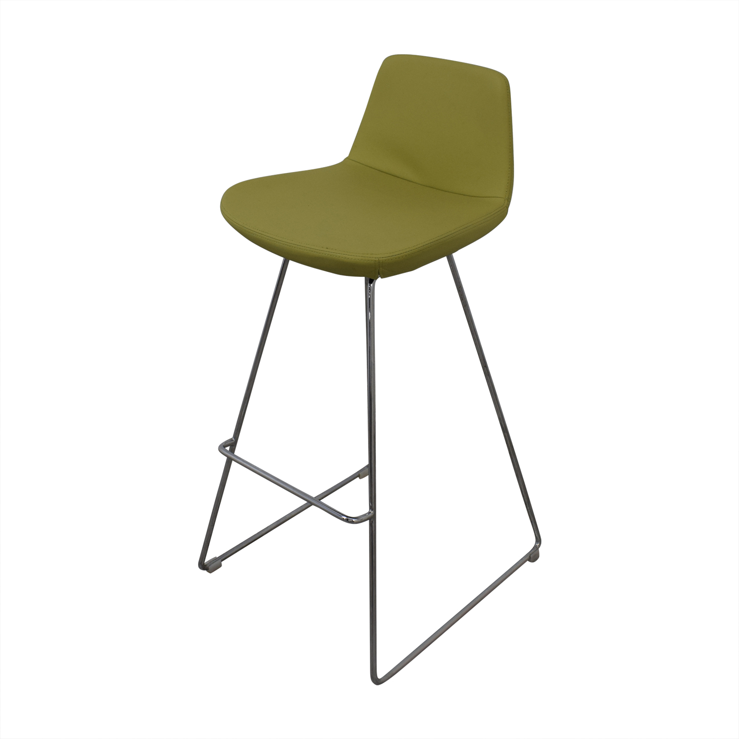 buy Design Within Reach Lime Leather Bar Stools Design Within Reach