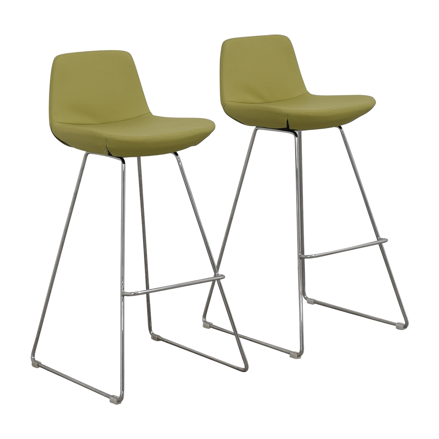 Design Within Reach Design Within Reach Lime Leather Bar Stools nj