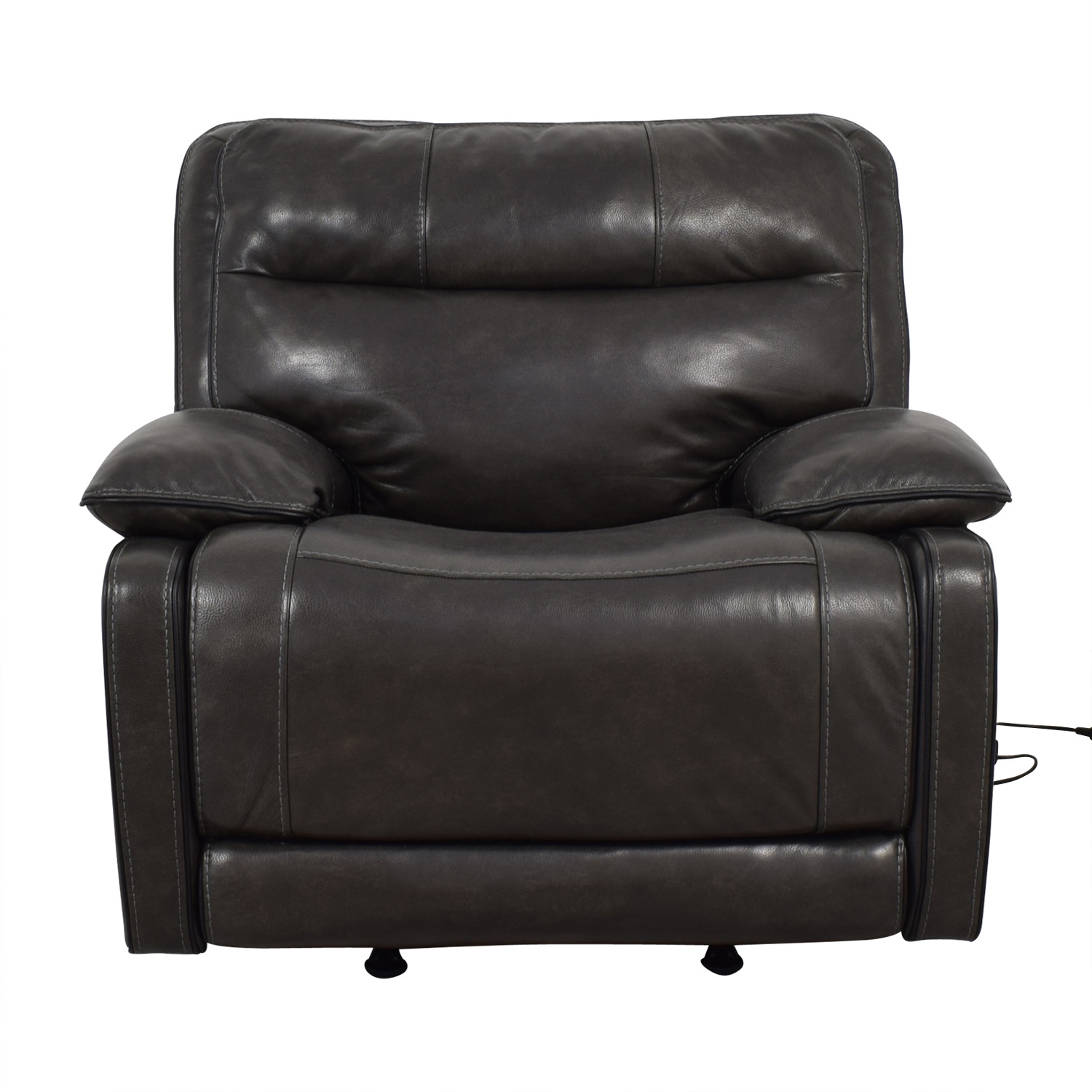 buy Palladum Leather Metal Power Recliner Palladum