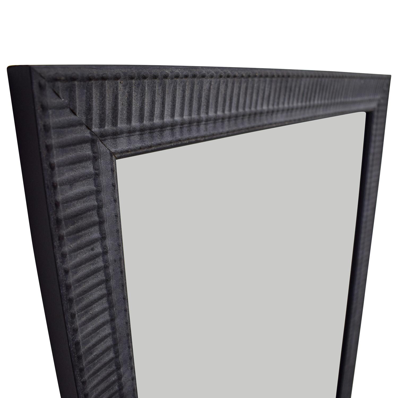64% OFF - Large Black Framed Mirror / Decor