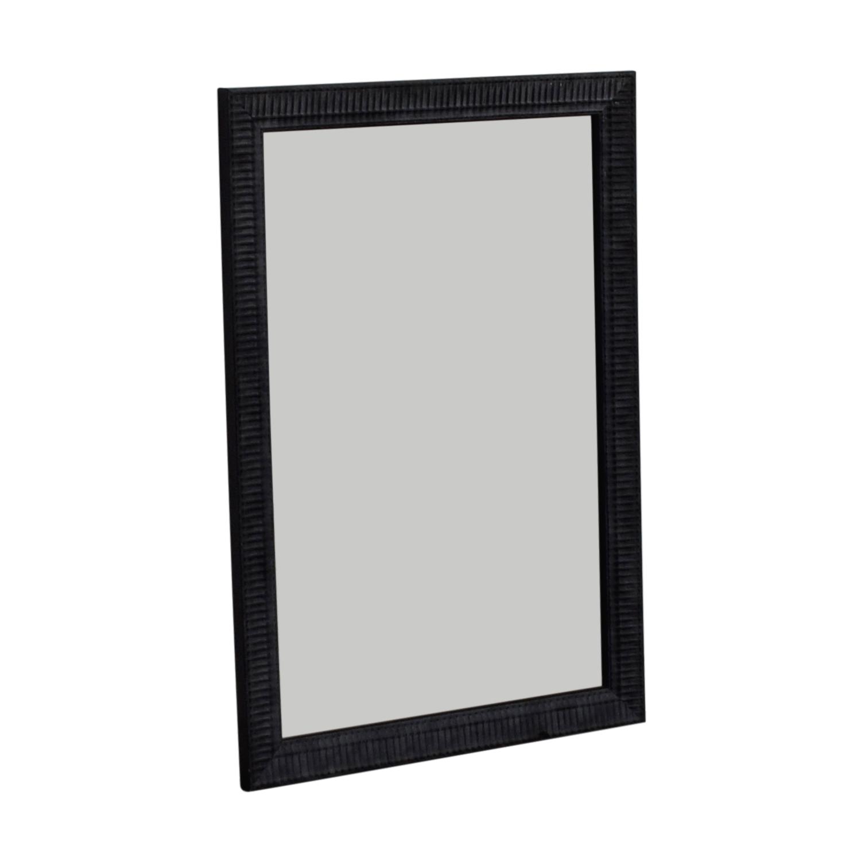 Large Black Framed Mirror nj