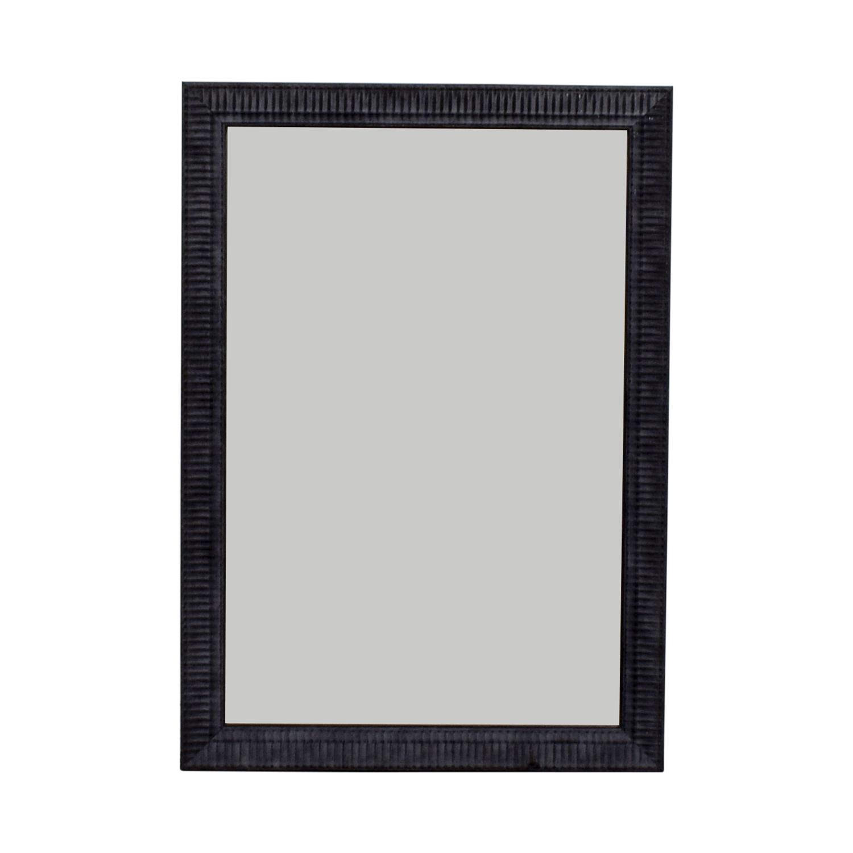 Large Black Framed Mirror second hand