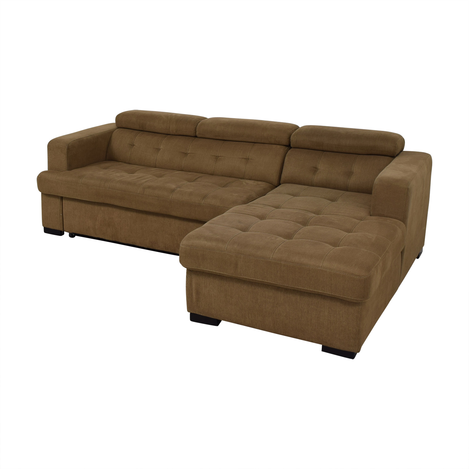 Bob's Furniture Bob's Furniture Brown Sectional with Chaise Storage Sofas