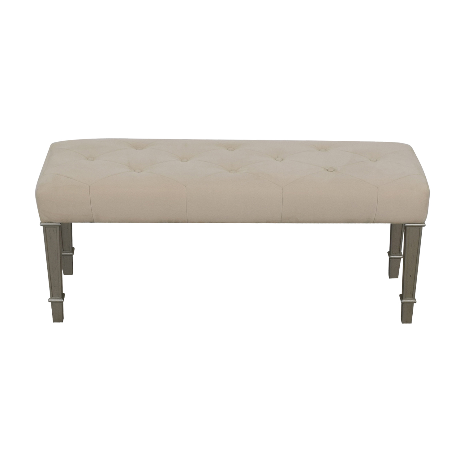 Horchow Hayworth Ivory Silver Bench / Benches