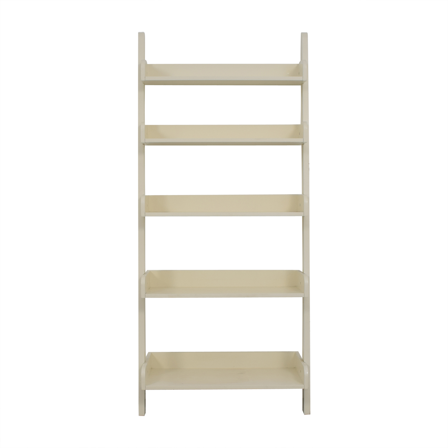 White Leaning Bookshelf used