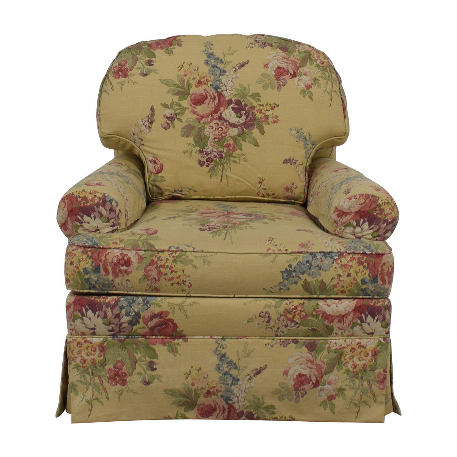 Ethan Allen Ethan Allen Floral Swivel Chair used