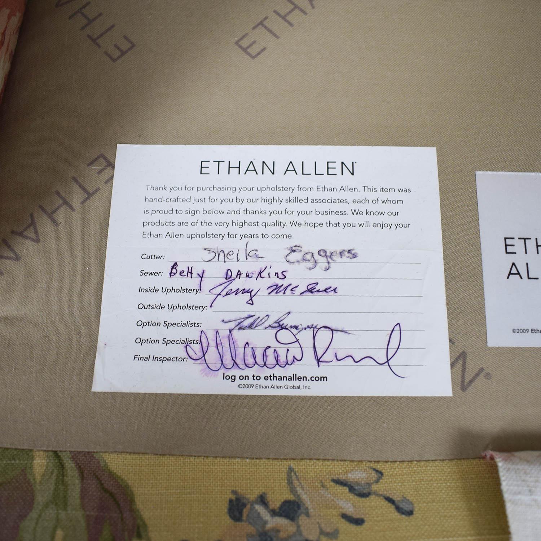 ... Ethan Allen Ethan Allen Floral Swivel Chair For Sale