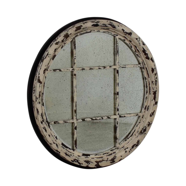 buy Guildmaster Transom Mirror in Rustic White Guildmaster Decor