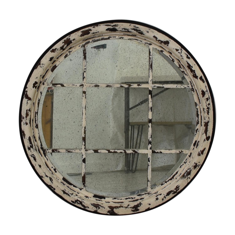 Guildmaster Guildmaster Transom Mirror in Rustic White nj