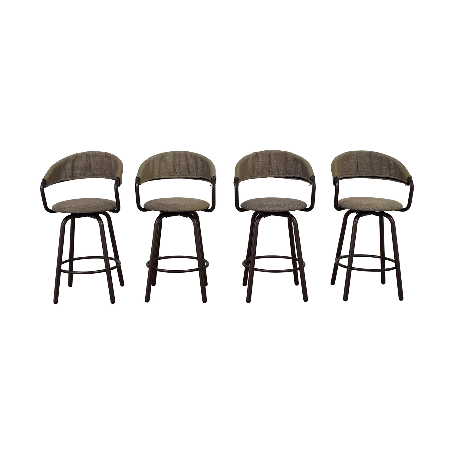 High Top Fabric Stools dimensions