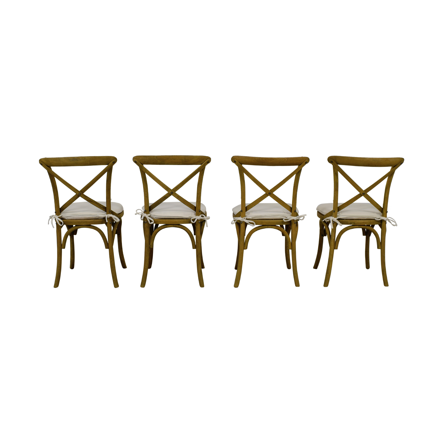 Restoration Hardware Restoration Hardware Madeleine Chairs with Cushion Beige