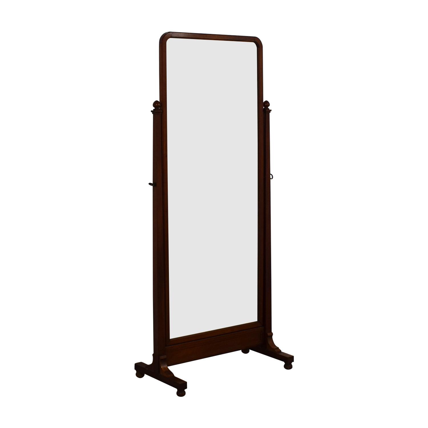 Antique Walnut Cheval Mirror / Mirrors