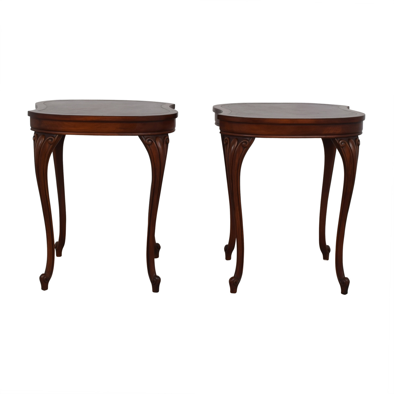 Antique Carved Queen Anne Walnut End Tables price