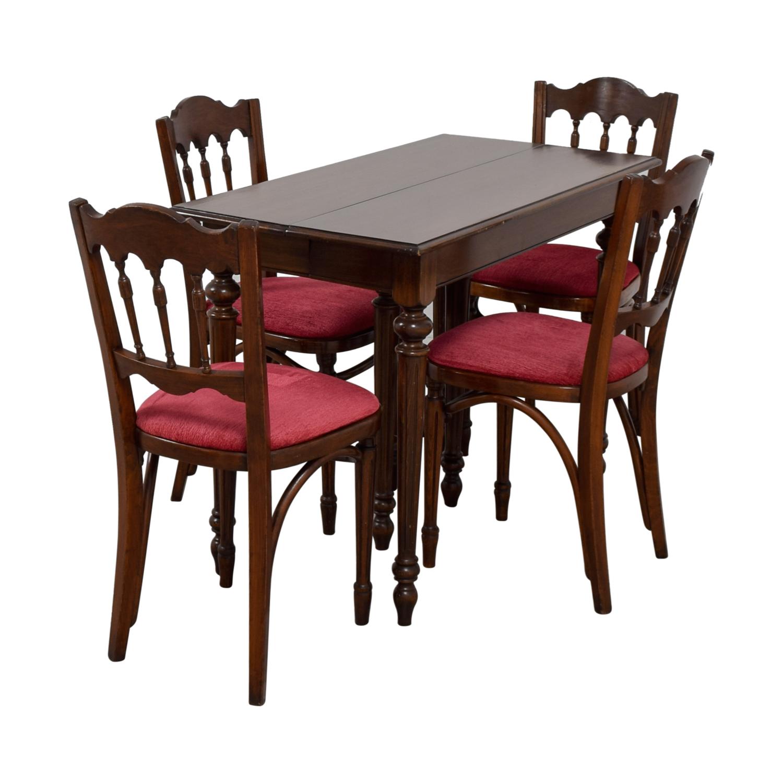 Vinatage Mahogany Dining Table Set discount