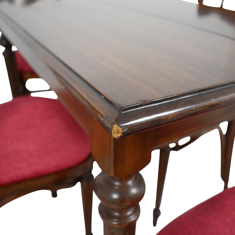 Vinatage Mahogany Dining Table Set price