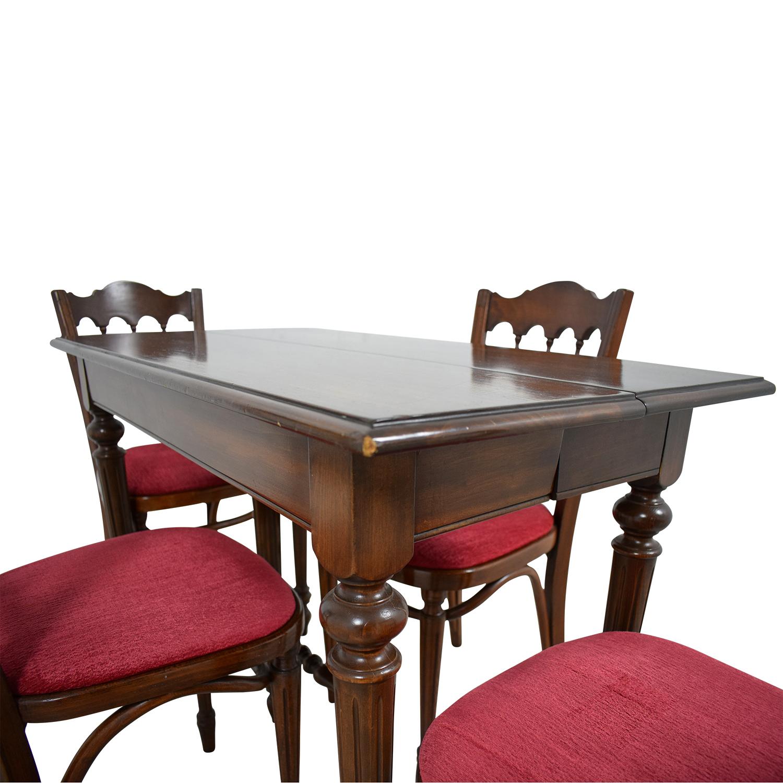 Vinatage Mahogany Dining Table Set nj