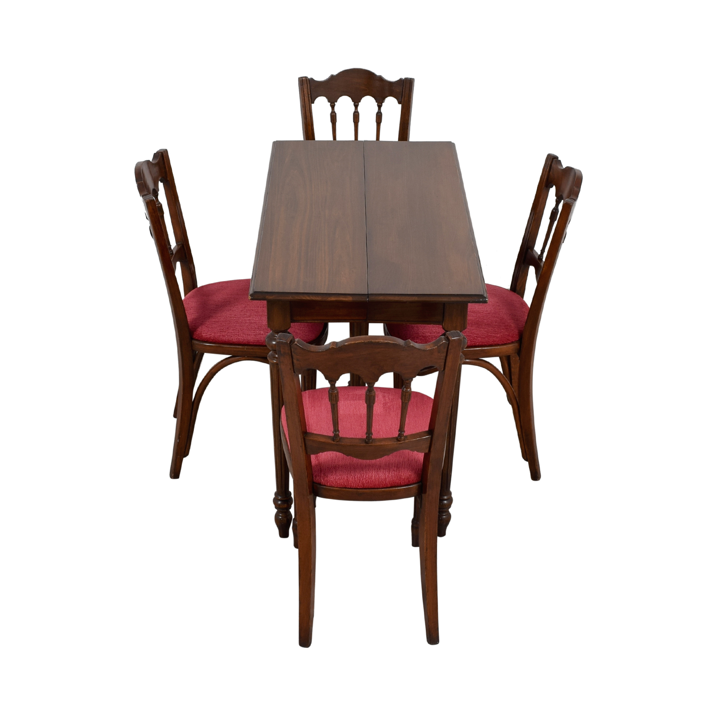 Vinatage Mahogany Dining Table Set used