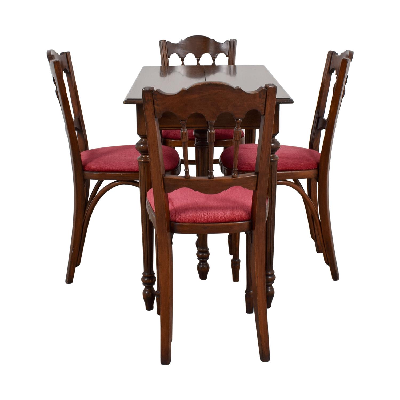 Vinatage Mahogany Dining Table Set Dining Sets