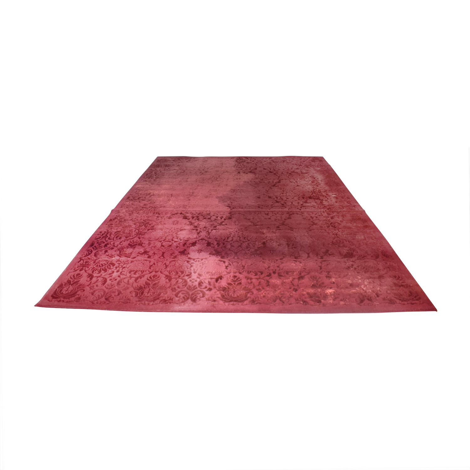 buy ABC Carpet & Home Damask Burgendy Wool Rug ABC Carpet & Home Rugs