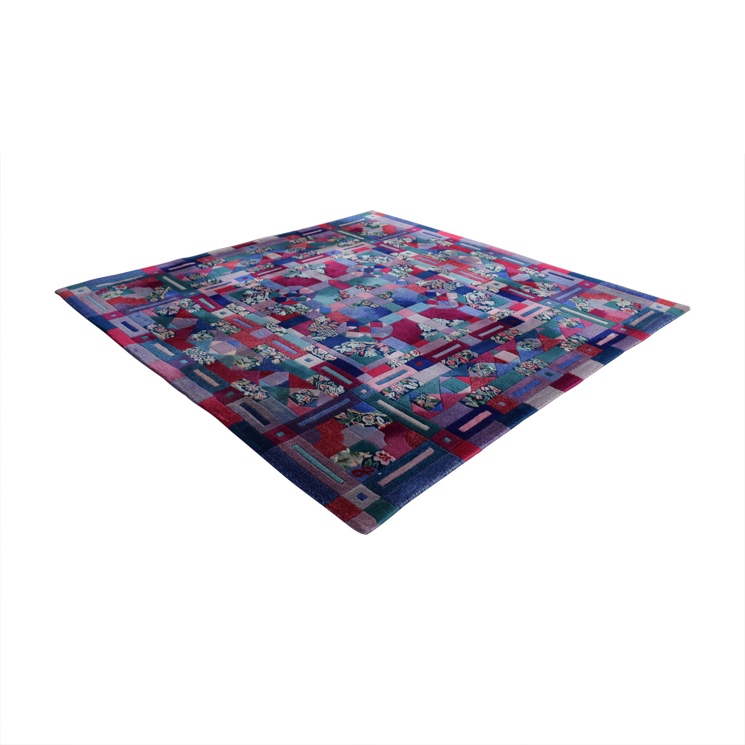 ABC Carpet & Home Square Wool Patchwork Rug ABC Carpet & Home
