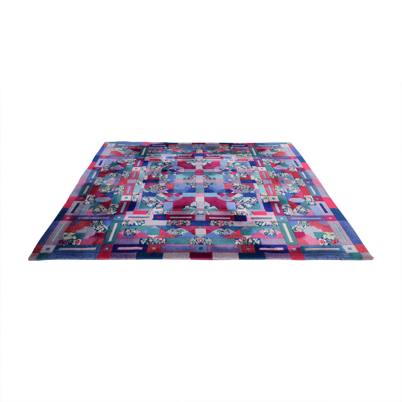 shop ABC Carpet & Home Square Wool Patchwork Rug ABC Carpet & Home