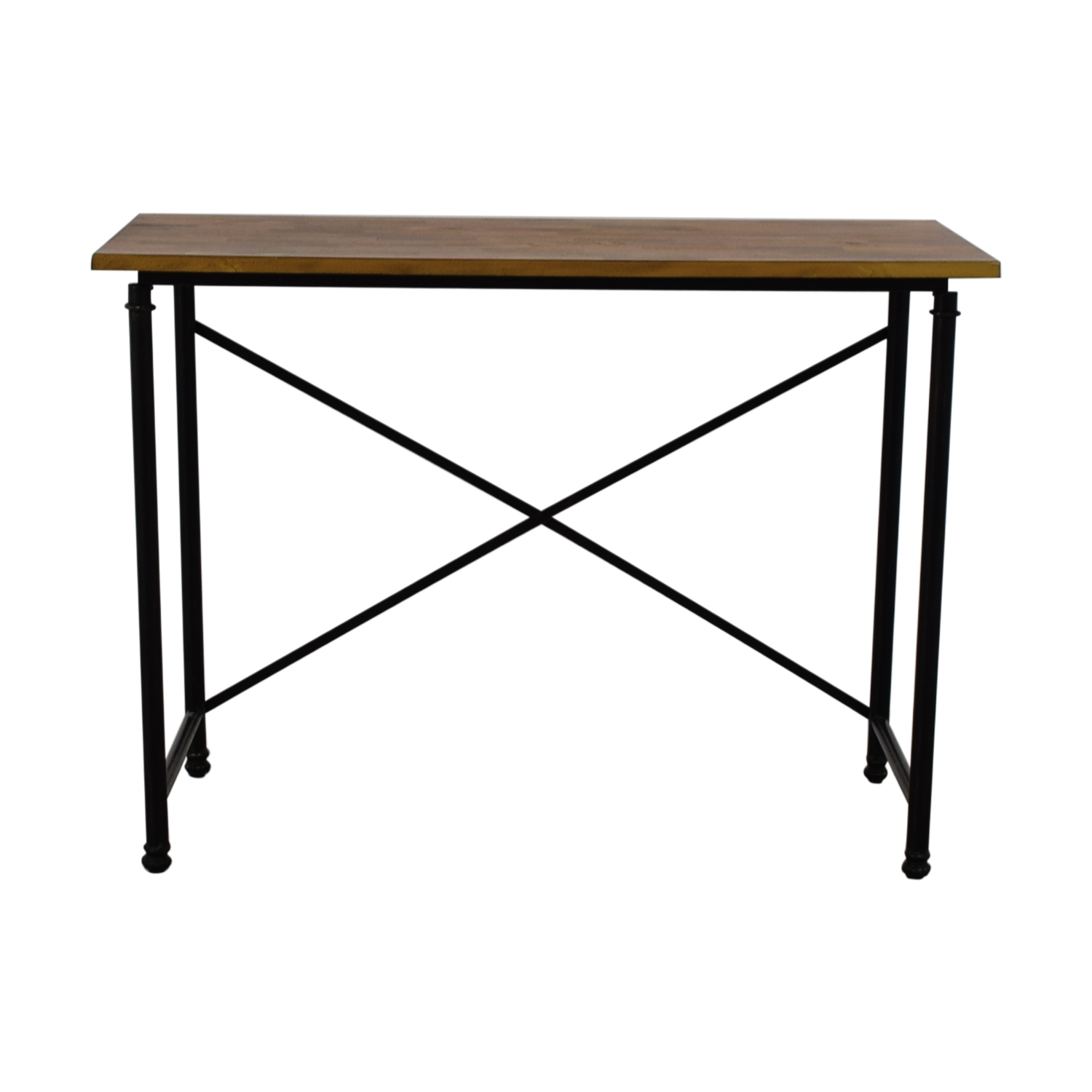 Wood and Metal Desk on sale
