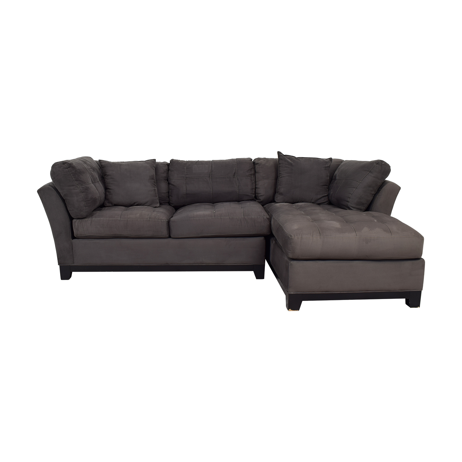 Raymour & Flanigan Cindy Crawford Grey Semi Tufted Sectional / Sectionals