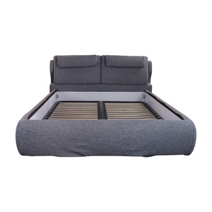 DeRucci De Rucci Full Size Bed with Back Cushions