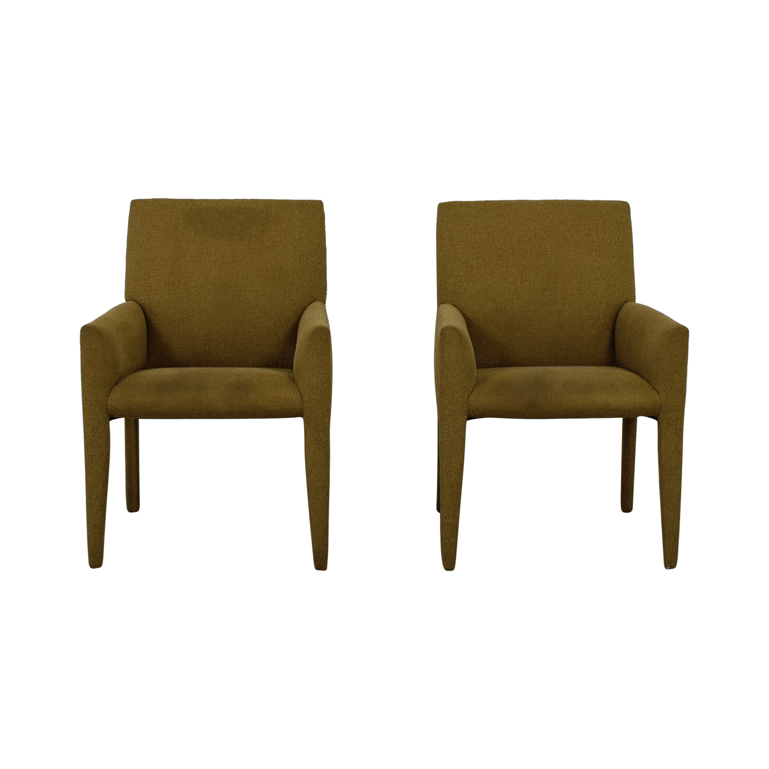 Macy's Macy's Olive Green Club Chairs dimensions