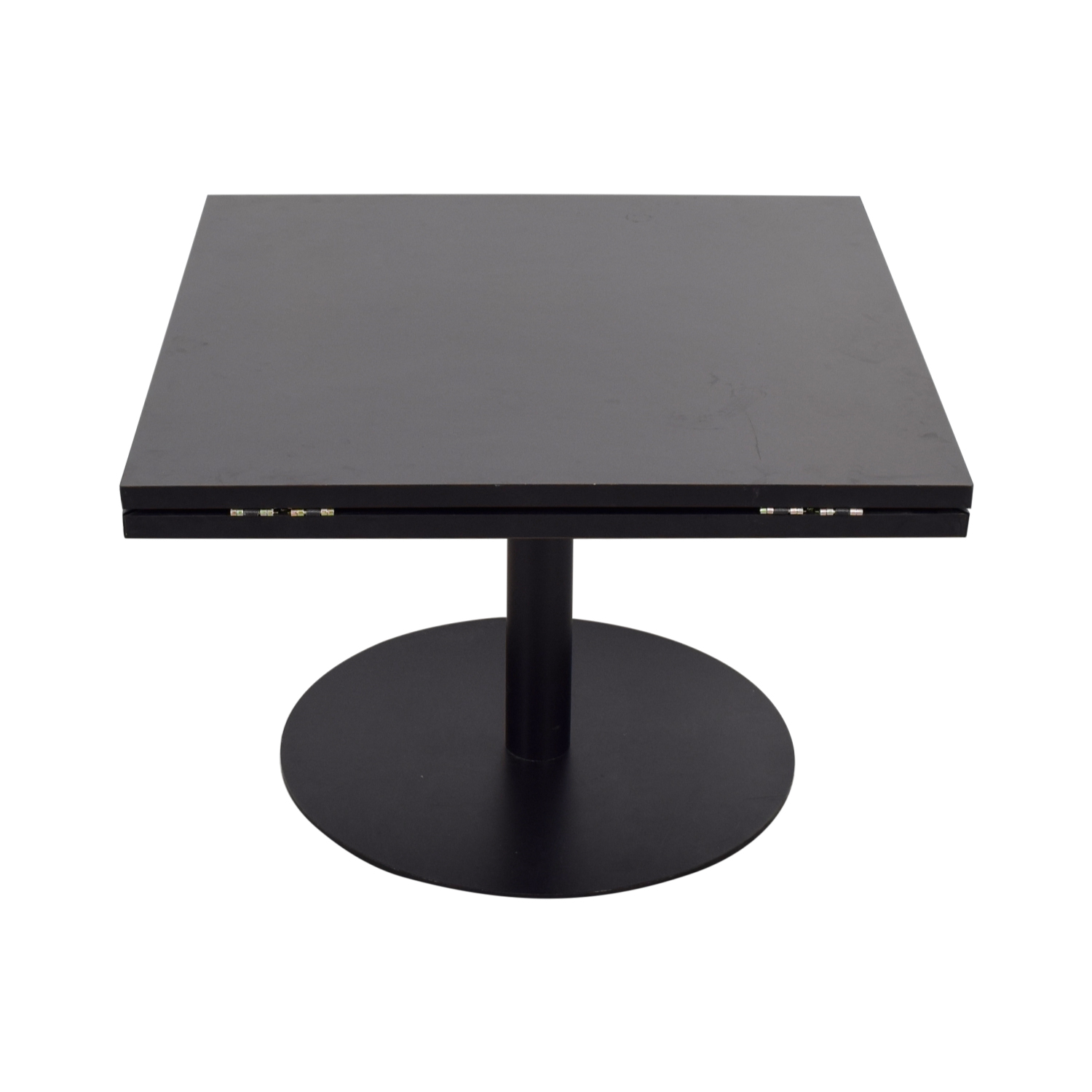 shop Black Square to Round Foldable Sides Table