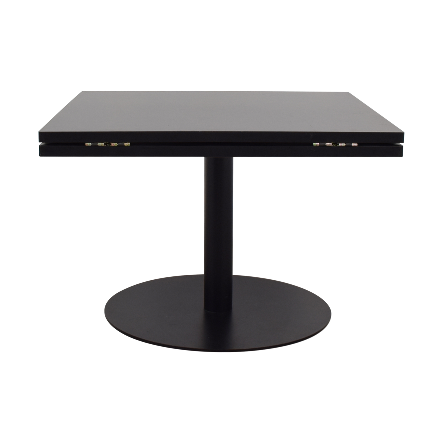 Black Square to Round Foldable Sides Table on sale