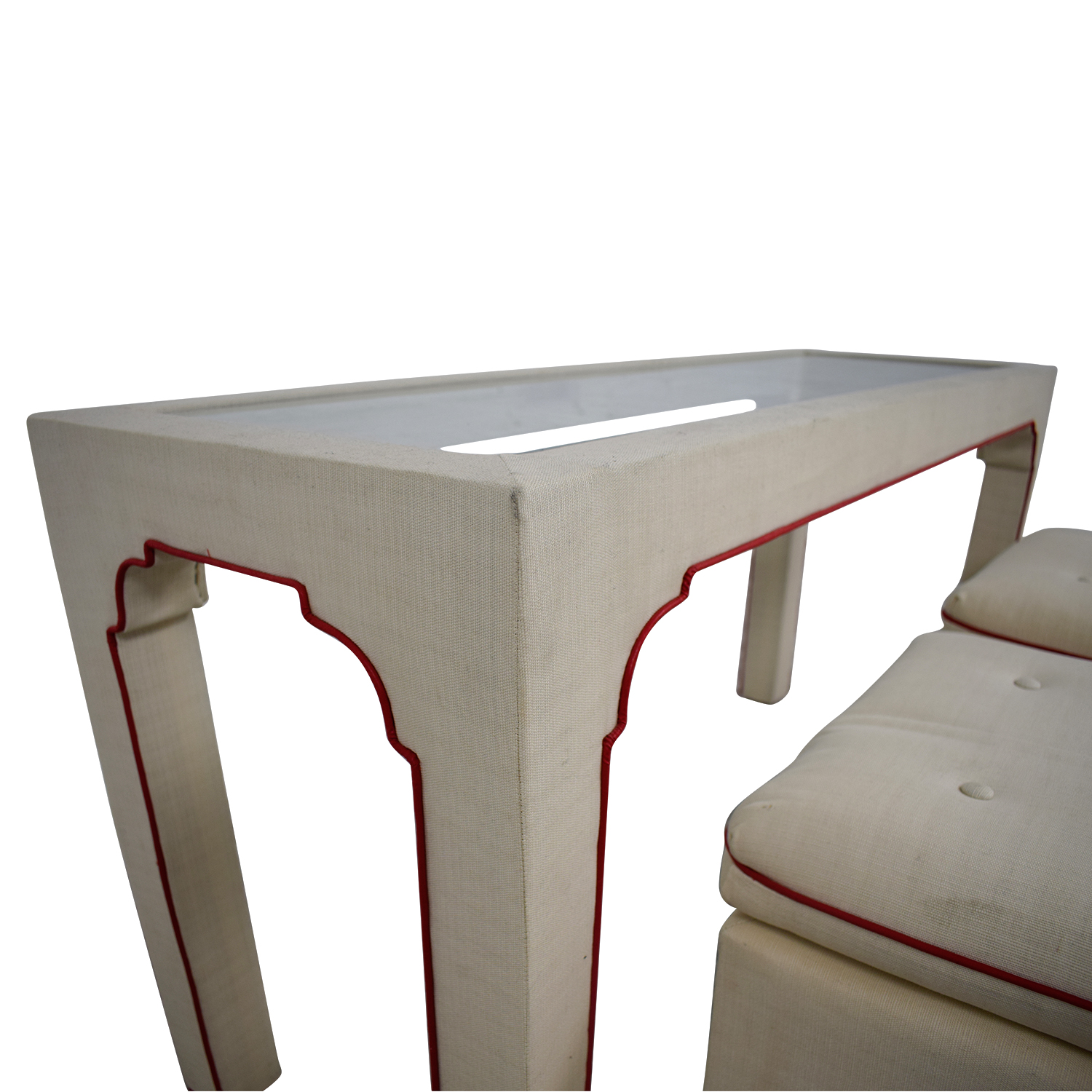 Terrific 89 Off Cream And Red Sofa Table And Stools Tables Short Links Chair Design For Home Short Linksinfo