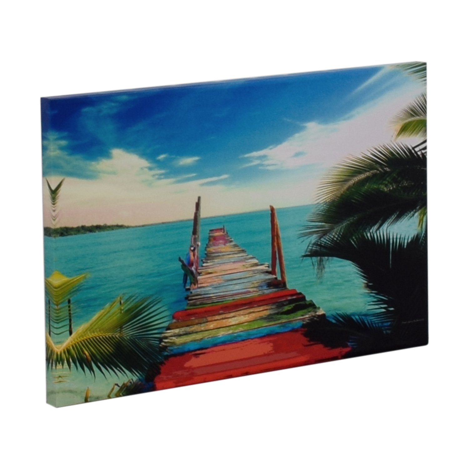 James Gary Richmond Key West Tropical Print on Canvas second hand