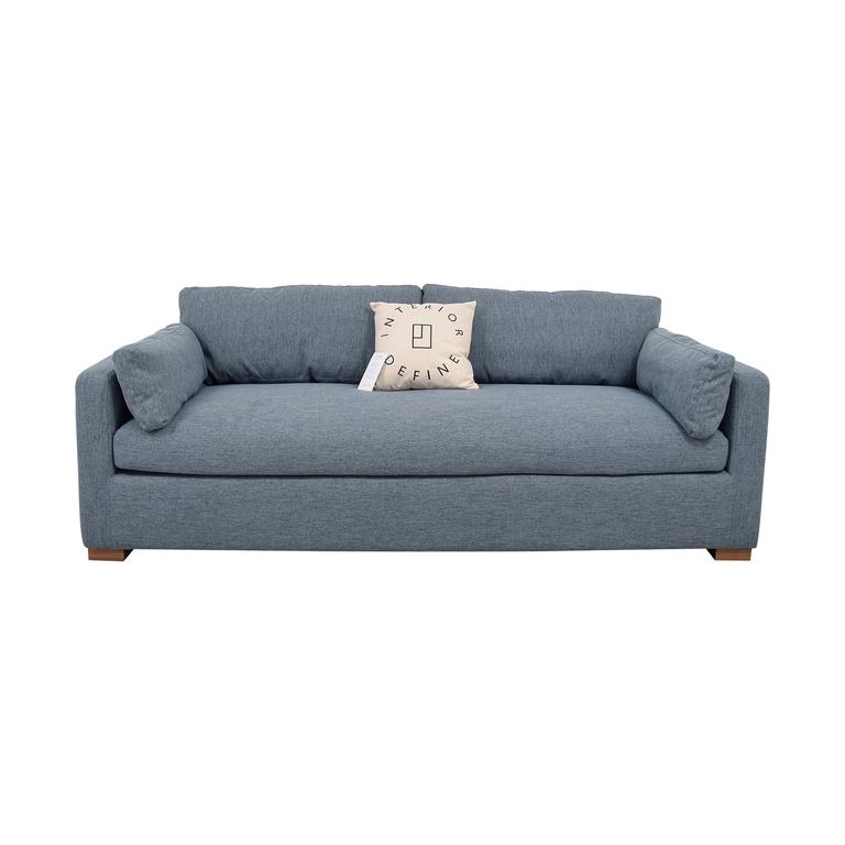 shop  Charly Blue Single Cushion Sofa online