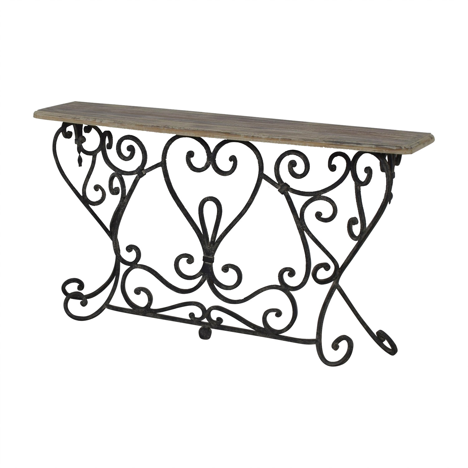 - 90% OFF - Wrought Iron Console Table / Tables