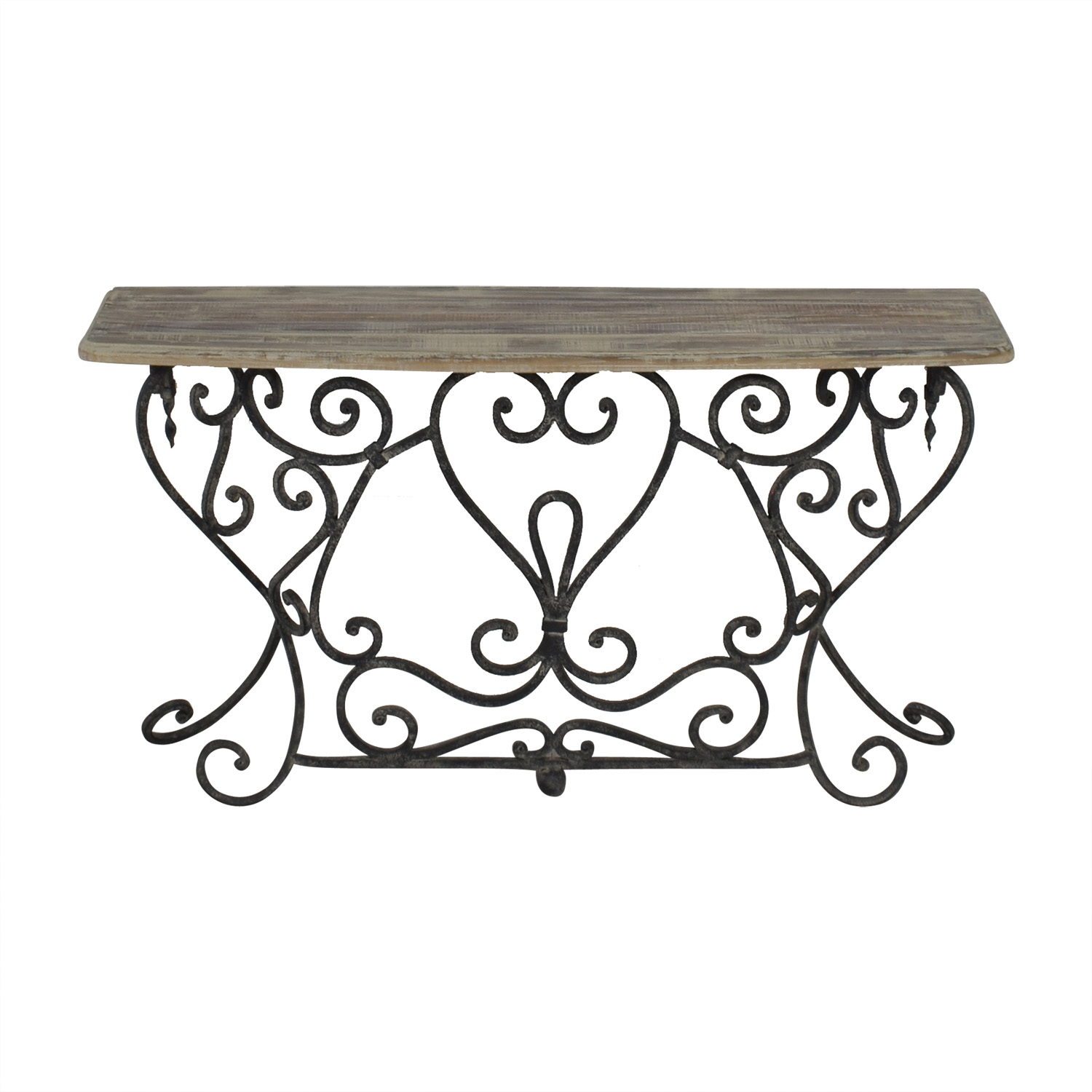 Wrought Iron Console Table grey