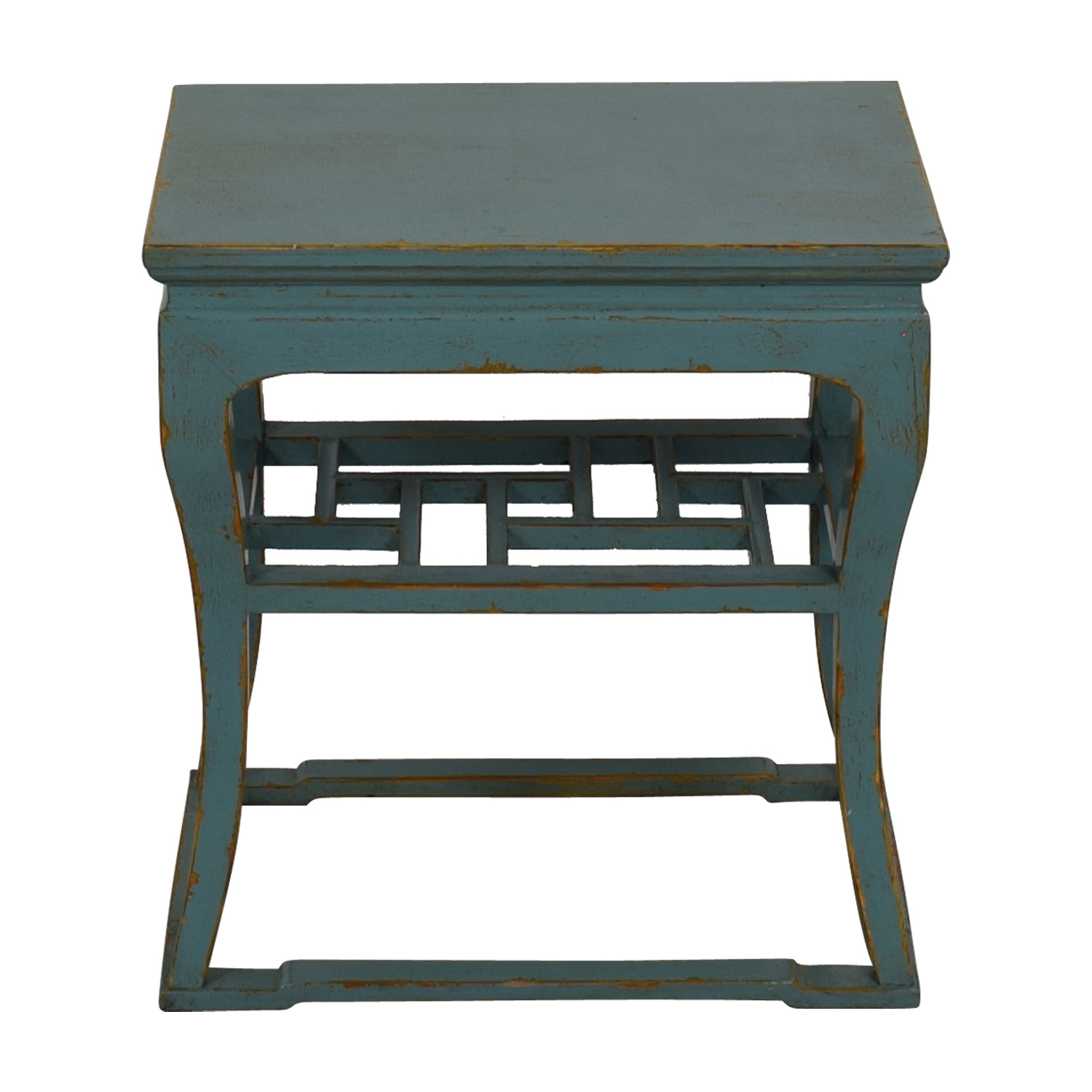 Green Distressed End Table / Sofas