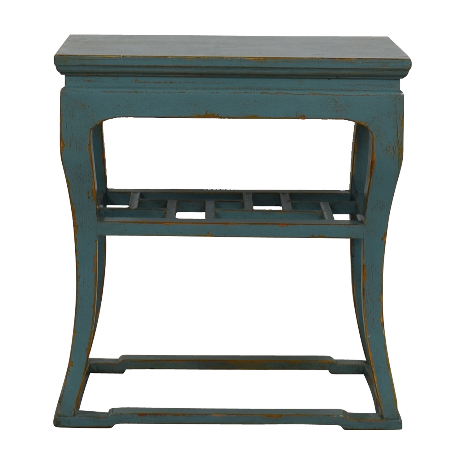 Green Distressed End Table price