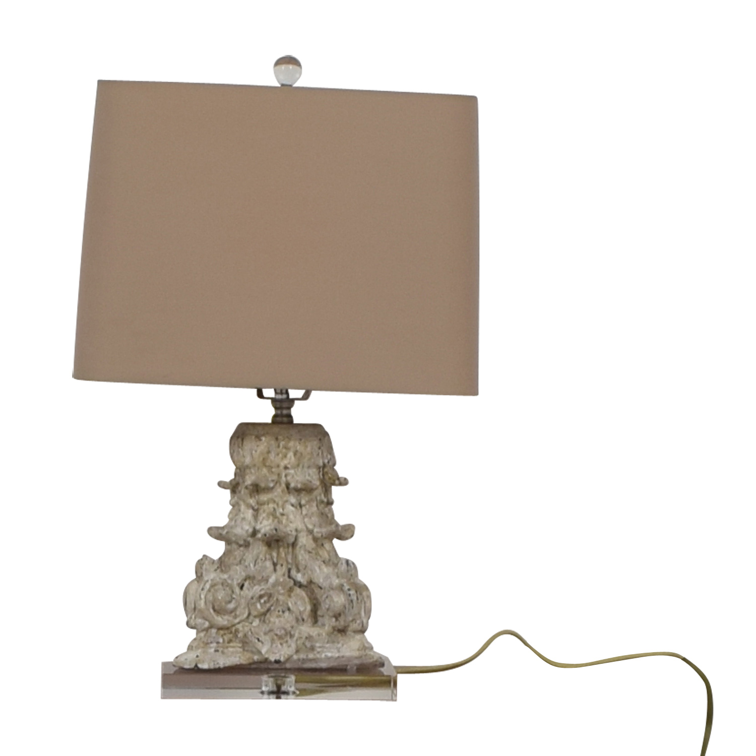 Carved Beige Table Lamp sale