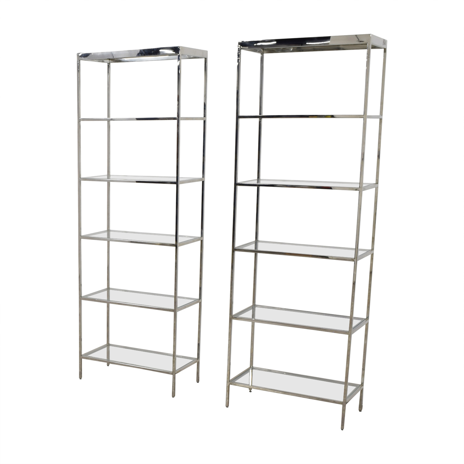 buy Mitchell Gold + Bob Williams Vienna Glass and Chrome Bookcase Mitchell Gold + Bob Williams