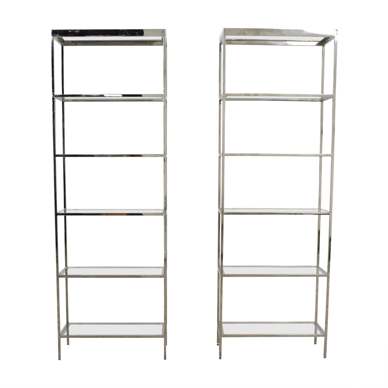 buy Mitchell Gold + Bob Williams Mitchell Gold + Bob Williams Vienna Glass and Chrome Bookcase online