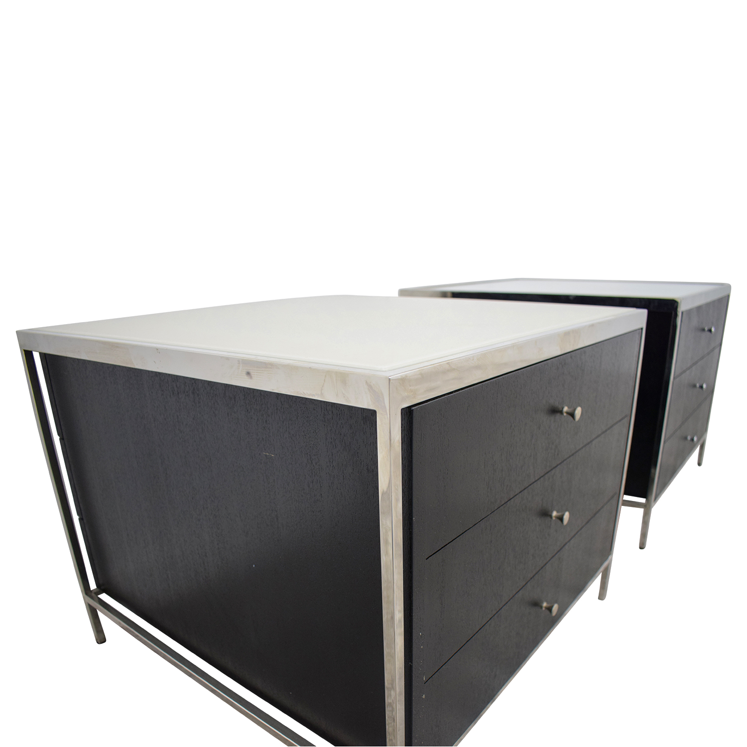 90 Off Mitchell Gold Bob Williams Mitchell Gold Bob Williams Manning Black And White Three Drawer Side Tables Tables