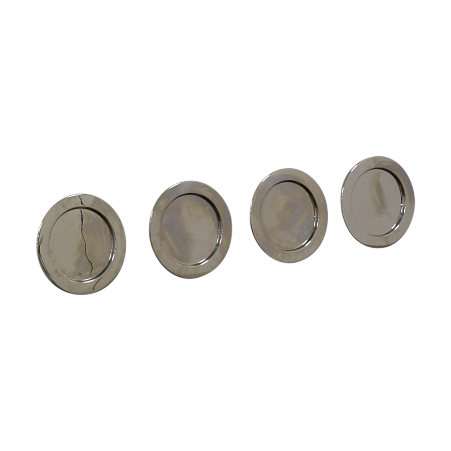 shop Alessi Silver Round Plates Alessi Decorative Accents