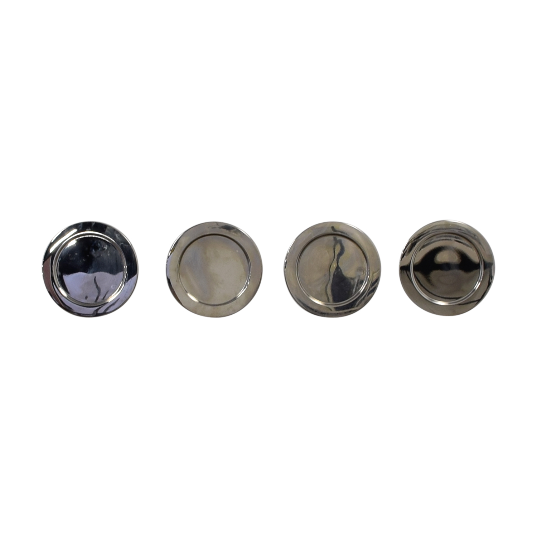 shop Alessi Silver Round Plates Alessi