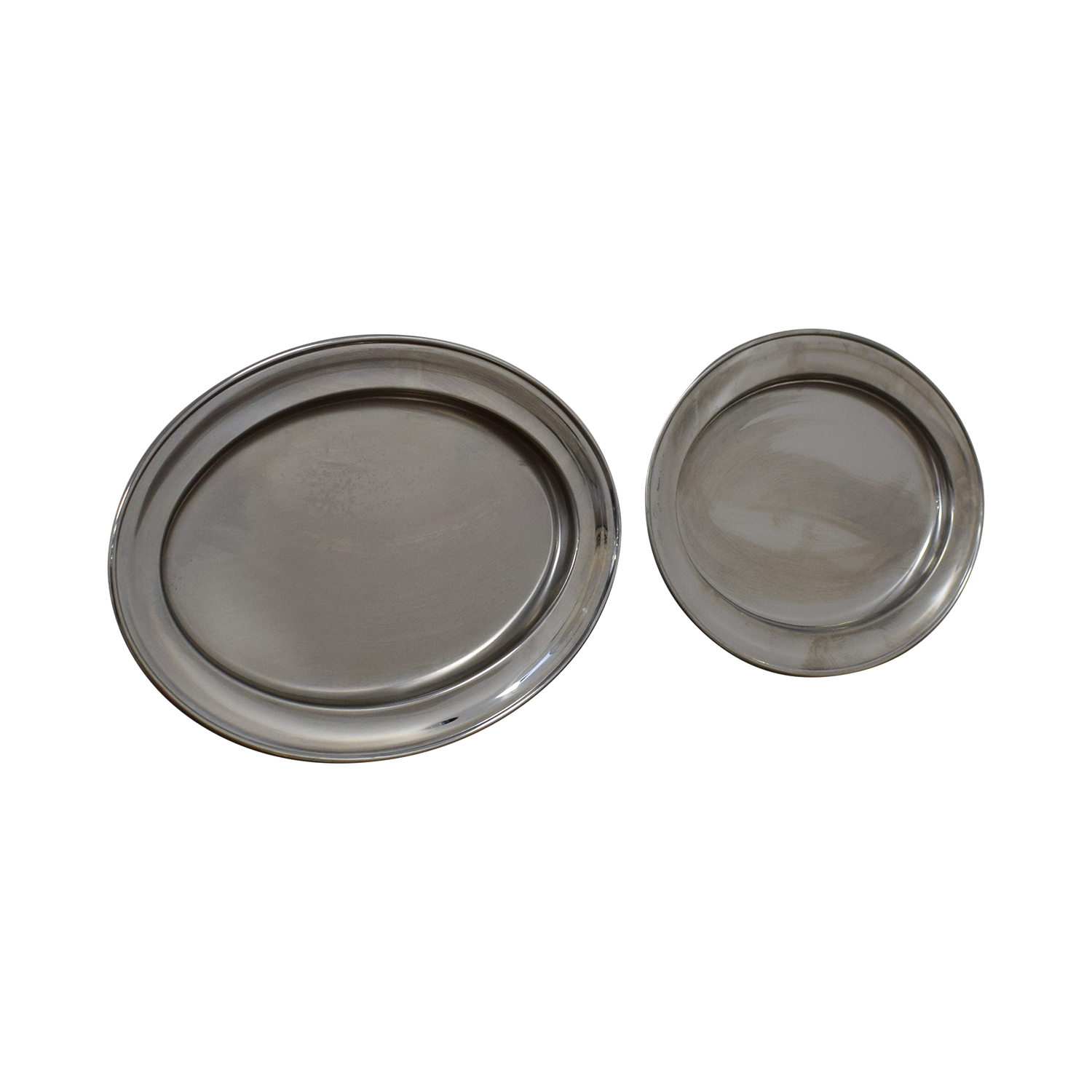 shop Alessi Silver Oval Platters Alessi