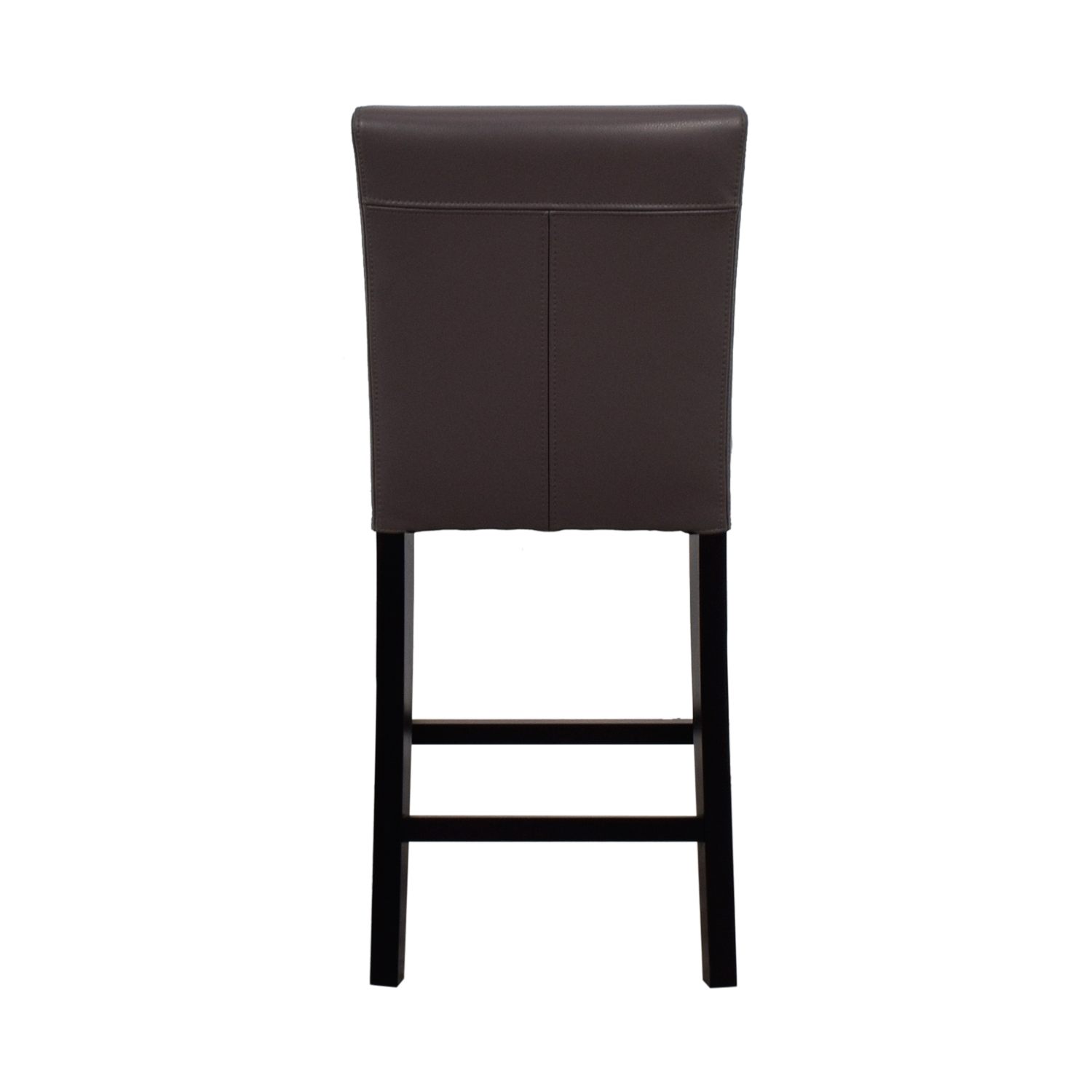 Crate & Barrel Crate & Barrel Lowe Leather Counter Stool discount
