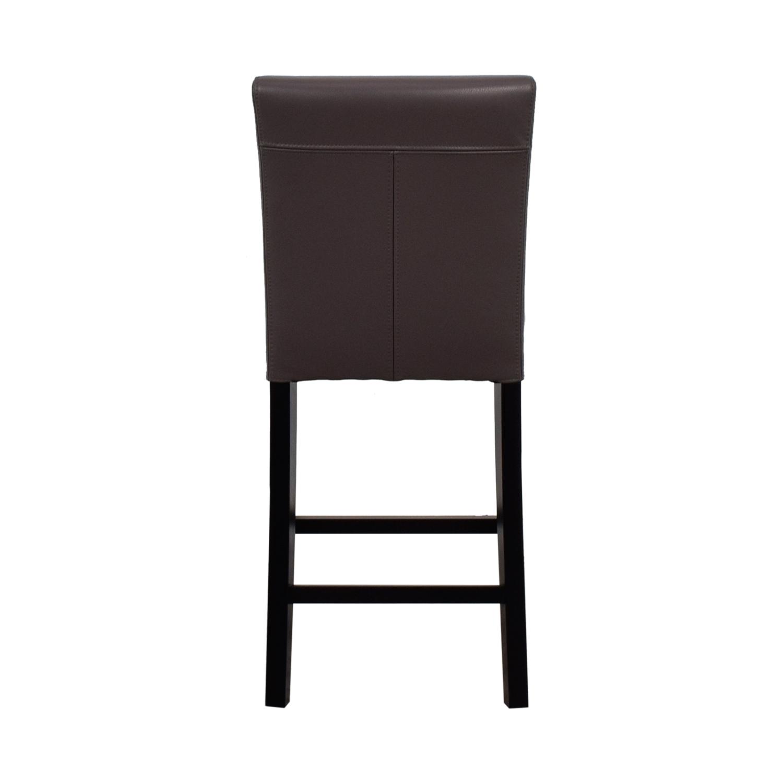 Crate & Barrel Crate & Barrel Lowe Leather Counter Stool nj