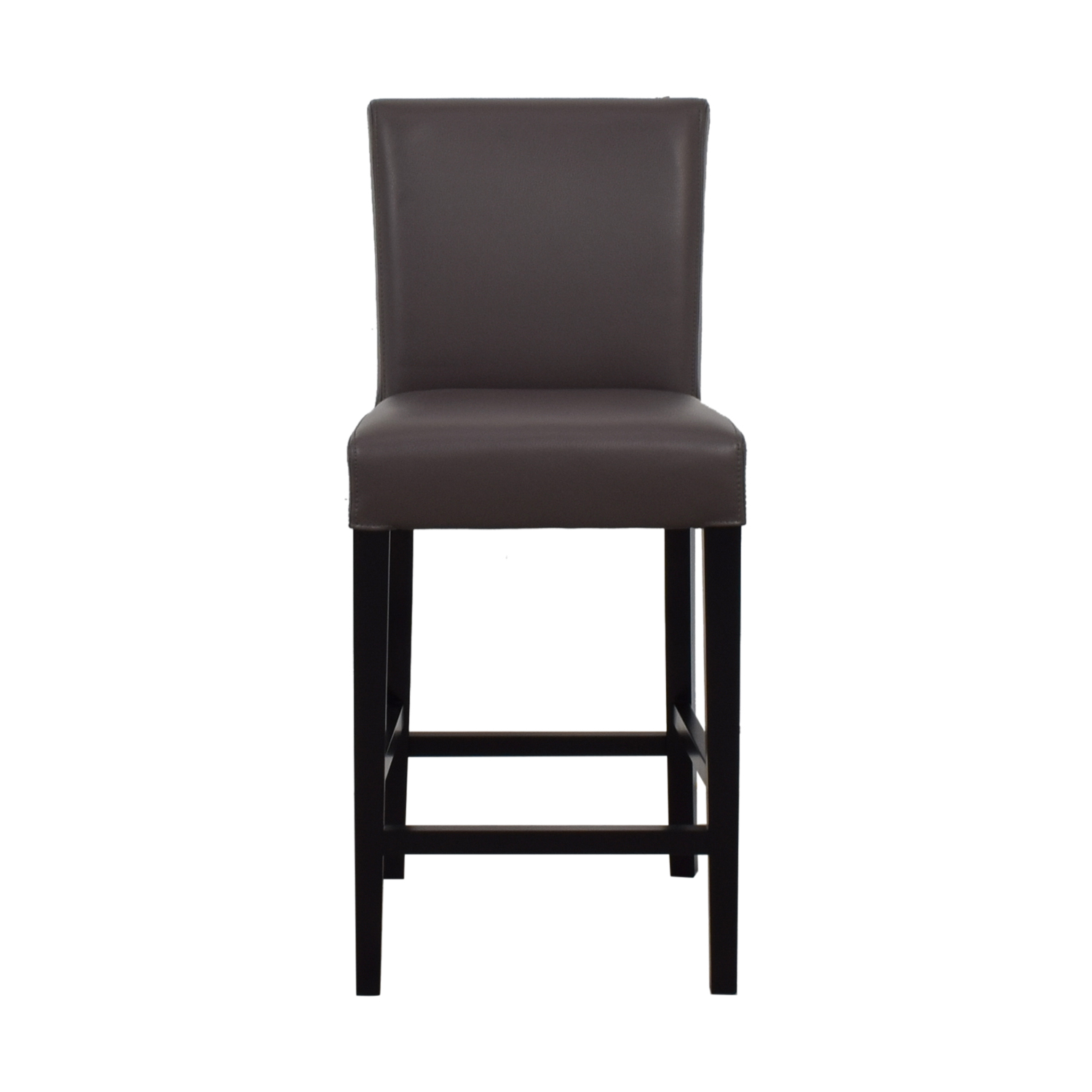 Crate & Barrel Crate & Barrel Lowe Leather Counter Stool